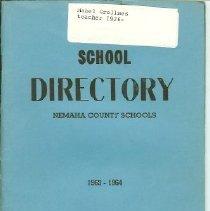 Image of Booklet - School Directory Nemaha County Schools 1963 - 1964