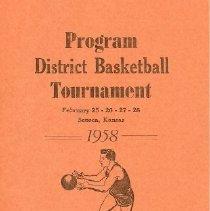 Image of Program - District Basketball Tournament, Feb. 25-26-27-28-, 1958