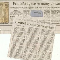Image of Frankfort Lost So Many Soldier