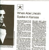 Image of Newspaper - Abe Lincoln & Pony Express Riders