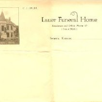 Image of 1920 Letterhead, Lauer Funeral