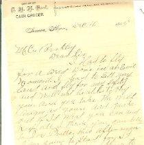 Image of Letter- Berkley (Ford) 1886