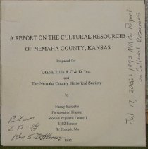 Image of Disc - 1 CD-rom disk with Cultural Resource of Nemaha County information