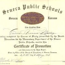 Image of Certificate, achievement - Certificate of Promotion