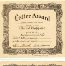 Image of Football Letter Award