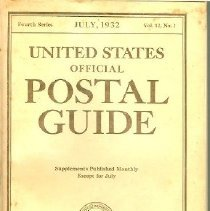 Image of 1932 Postal Guide