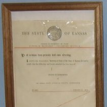 Image of Historical Society Certificate