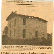 Image of Newspaper - Hotel Welcomed Pioneers