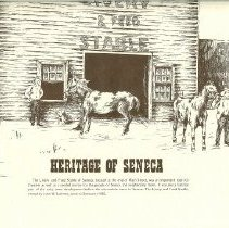 "Image of Drawing - Heritage of Seneca ""Livery & Feed Stable"""