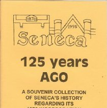 Image of Seneca  125 years ago souvenir