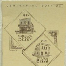 Image of Booklet - Centennial Edition on the State Bank of Bern