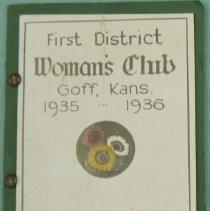 Image of Program - 1st District Women's Club, Goff, KS 1935-1936