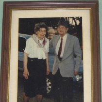 Image of Elderly Couple in Brown Frame
