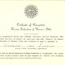 Image of Certificate of Award-FWC