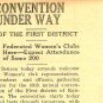 "Image of Newspaper - Newspaper ""Convention Under Way"""
