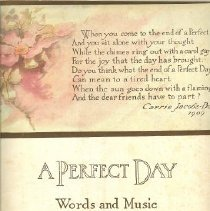Image of O Perfect Day, Sheet Music