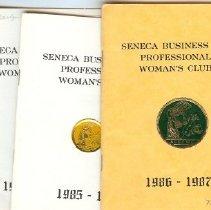 Image of Booklet - BPW program books 85-86-87
