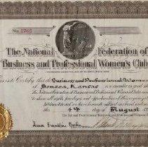 Image of Certificate of membership bpw