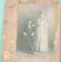 Image of old wedding portrait