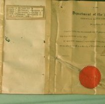 Image of Patent - patent of the homestead of Barney Rottinghaus