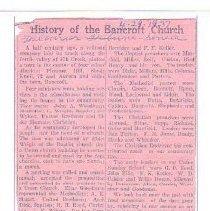 Image of Documents - History of Bancroft Community Church