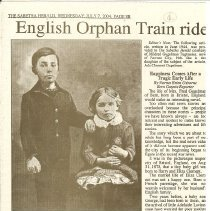 Image of NCHS: Orphan Train