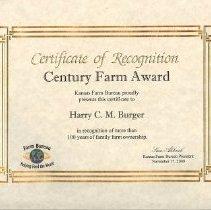 Image of Century Farm Award