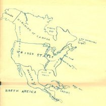 Image of Drawing - Maps: Drawings by Harry burger-Supt. of Schools, Fremont, NE