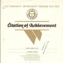 Image of Citation of Achievement