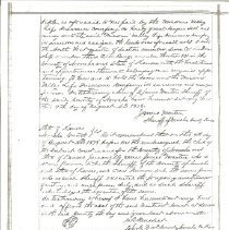 Image of Hare Family Deed-1877