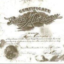 Image of 1907 Certificate, np6 school