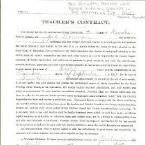 Image of 1917 Dist #71 Contract