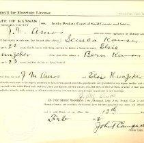 Image of 1912 Marriage Affidavitt