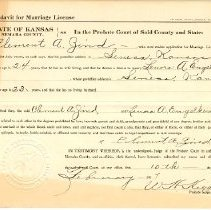 Image of 1917 Marriage Affidavits