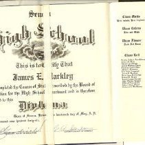 Image of Jim Markley's 1946 SHS Diploma