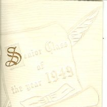 Image of Senior SHS 1949 Invitation