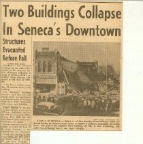 Image of Two buildings collapse in Sene