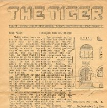 Image of Newsletter - The Tiger