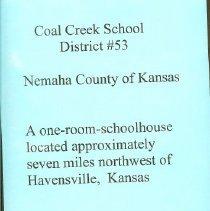 Image of Coal Creek School Memory Book