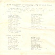Image of Documents - Members and Officers of the Senior and Junior Band