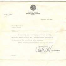 Image of Letters from State & board of