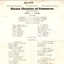 Image of Documents - Officers of the Seneca Chamber of Commerce