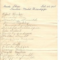 Image of List of 1938 students