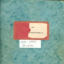 Image of NCHS Minute book, 1976 - 1985