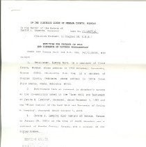 Image of Janice Lamping estate document
