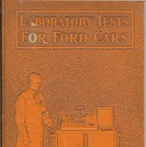 Image of Book, Instruction - Laboratory Tests for Ford Cars