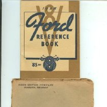 Image of Book, Instruction - 1938 Ford Reference Book