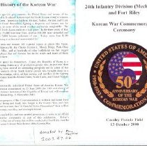 Image of Program of Korean War Cem