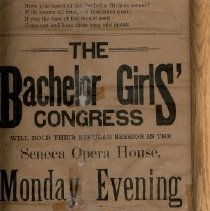 "Image of Poster - ""The Bachelor Girls Congress"" Program"