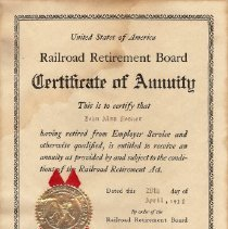 Image of Railroad Annuity